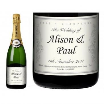 Wedding Celebrate Personalised Champagne